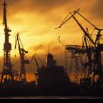 Dockanlagen im Hamburger Hafen.