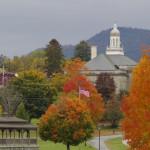 Die Stadt Ticonderoga in den Adirondacks.