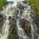 Wasserfall in der Nähe des Old Man of Storr.