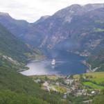 Blick auf den Geirangerfjord.