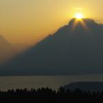 Sonnenuntergang im Grand Teton National Park.