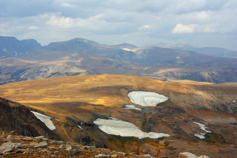 Blick auf die Berge vom Beartooth Pass.