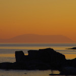 Sonnenuntergang an der Nordwestküste .