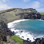 Eine Besonderheit auf Big island ist der Green Sand Beach im Süden der Insel.