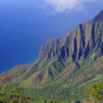 Blick vom Kalalau Lookout auf die Na Pali Coast (auch Napali Coast) auf Kauai, Hawaii.