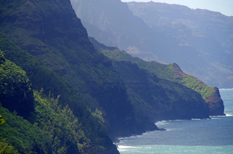 Blick auf die Na Pali Coast auf Kauai, Hawaii.