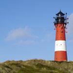 Der Leuchtturm Hörnum in Hörnum an der Südspitze von Sylt.