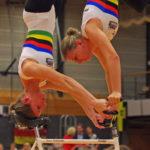 2er Kunstradsport: Die Weltmeisterinnen Nadja Thürmer (links) und Julia Thürmer (rechts) vom RV Mainz-Finthen gewannen bei den Deutschen Meisterschaften 2017 in Hamburg souverän den Titel.