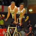 2er Kunstradsport: Die Weltmeisterinnen Nadja Thürmer (rechts) und Julia Thürmer (links) vom RV Mainz-Finthen gewannen bei den Deutschen Meisterschaften 2017 in Hamburg souverän den Titel.