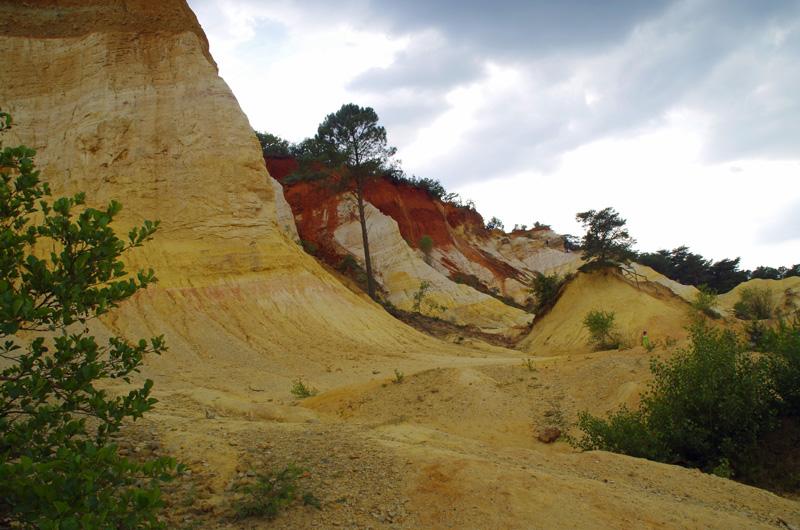 Der Colorado de Rustrel in der Provence erinnert stark an den Südwesten der USA.